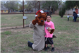 McGruff Hugging Kid