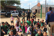 Officer Talking with Kids
