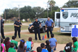 Officers Talking with Kids