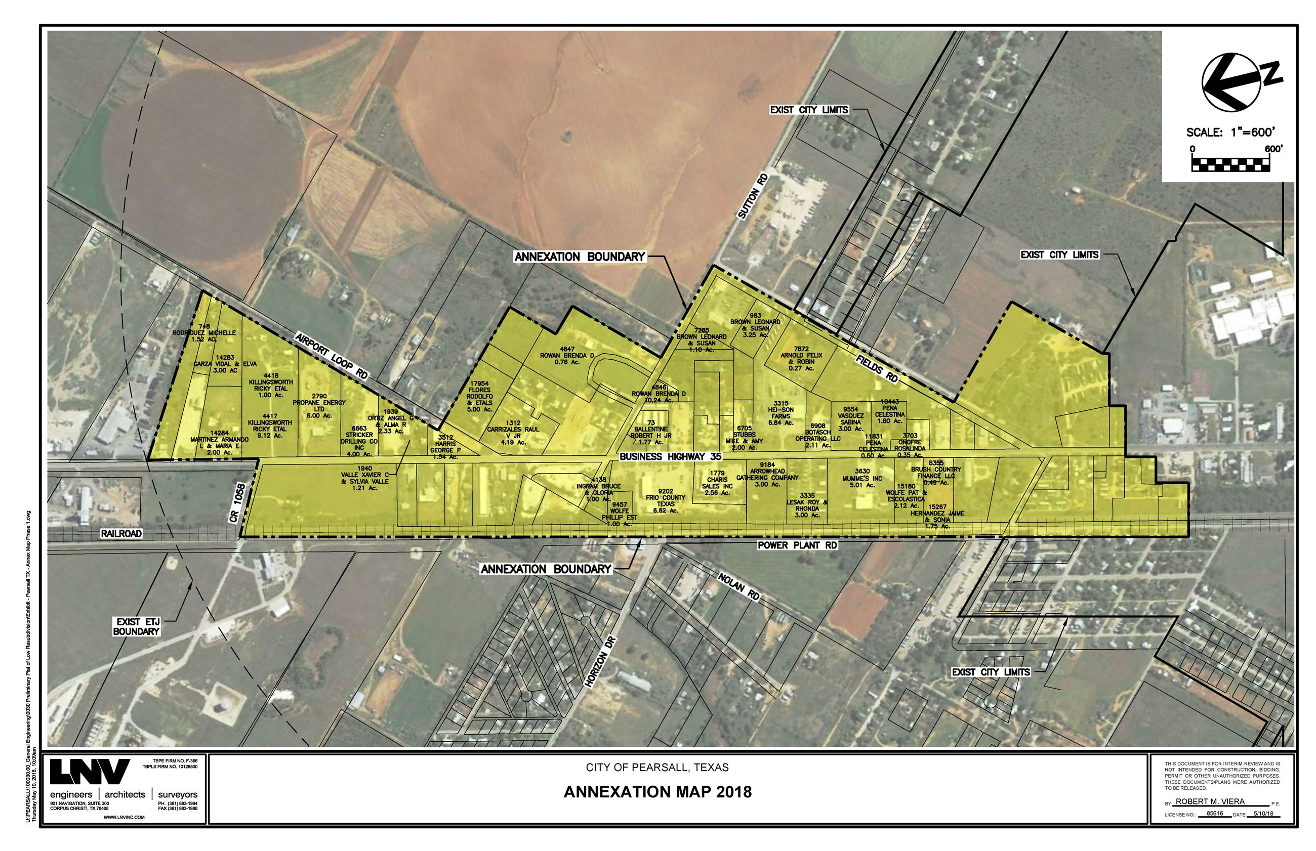 Exhibit - Pearsall TX - Annex Map Phase 1