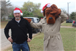 McGruff with Officer Waving