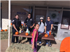 Officers with Pumpkins