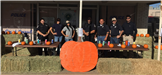 Police Officers with Pumpkins