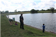 Kids Fishing with Officers