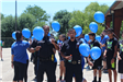Officers with Balloons